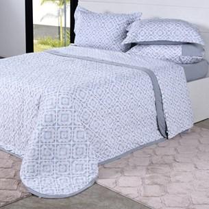 Cobre Leito Em Malha Premium Queen 145 Fios Com Porta Travesseiros Talavera - Tessi