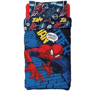 Colcha Com Porta Travesseiro Dupla Face Solteiro Homem Aranha Sortido - Licenciada