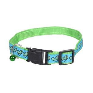 Coleira Regulável 30Cm X 30Cm Para Cachorros E Gatos Verde - Meu Pet