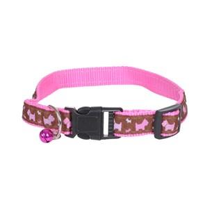 Coleira Regulável G Para Cachorros E Gatos Rosa - Meu Pet