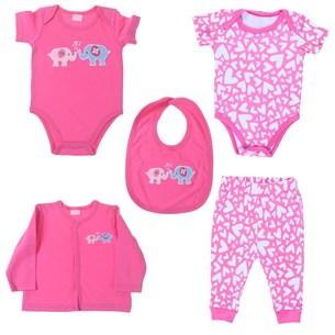 Conjunto Roupinhas Para Bebê 3-6 Meses   Rosa - Bene Casa