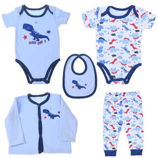 Conjunto Roupinhas Para Bebê 5 Peças 0-3 Meses   Azul - Bene Casa