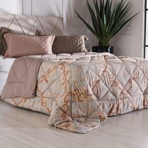 Edredom Queen Toque Super Macio 180G/M² Essential Ornamento - Bene Casa