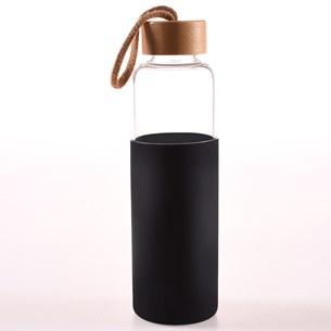 Garrafa De Vidro Termica 550Ml Quente E Frio   Com Capa De Silicone Style Sortido - Bene Casa