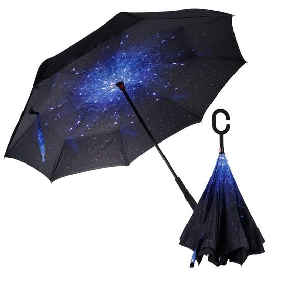 Guarda Chuva Invertido Grande Abre Ao Contrario 1,07M De Diametro Estrelas - Panosul