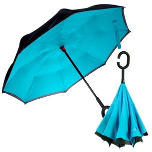 Guarda Chuva Invertido Pequeno Abre Ao Contrario 80Cm De Diametro Azul - Panosul
