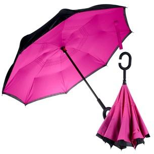 Guarda Chuva Invertido Pequeno Abre Ao Contrario 80Cm De Diametro Rosa Pink - Panosul