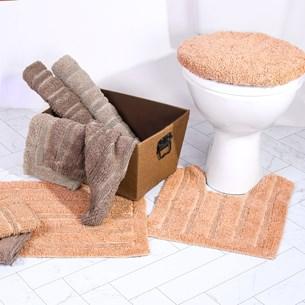 Jogo De Banheiro   Algodão Lavável Em Maquina Nude Classico - Tessi