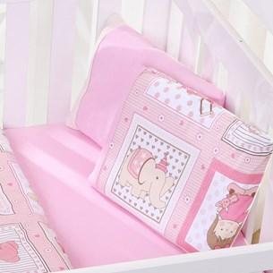 Jogo De Bebê Bebê  Malha 100% Algodão Fio Penteado Amore Rosa - Bene Casa