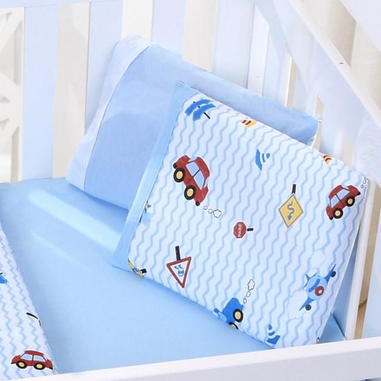 Jogo De Bebê Bebê  Malha 100% Algodão Fio Penteado Carrinhos - Bene Casa