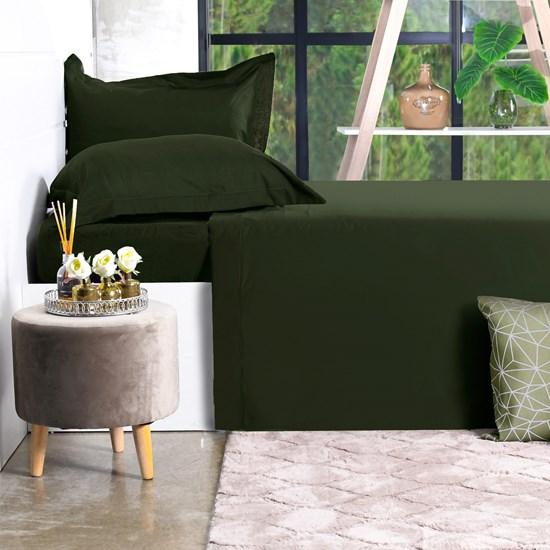 Jogo De Cama 200 Fios 4 Peçs King Percal 100% Algodão Toque Ultra Macio Green Classe - Bene Casa
