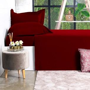 Jogo De Cama 200 Fios 4 Peçs King Percal 100% Algodão Toque Ultra Macio Red Classe - Bene Casa