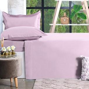 Jogo De Cama 200 Fios 4 Peçs King Percal 100% Algodão Toque Ultra Macio Rosa Classe - Bene Casa