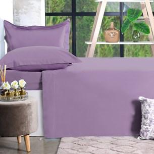 Jogo De Cama 200 Fios Casal Percal 100% Algodão Super Macio Purple Classe - Bene Casa