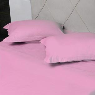 Jogo De Cama 200 Fios Percal Solteiro 100% Algodão Toque Macio Rosa Blush - Bene Casa