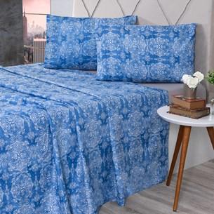 Jogo De Cama Casal Cotton Touch Jerez - Bene Casa