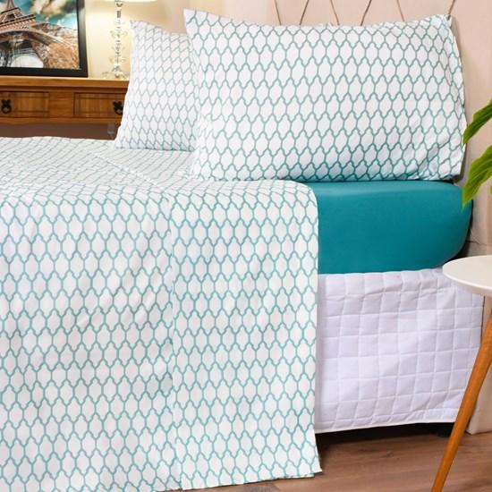 Jogo De Cama Casal Toque Macio + Sacolinha De Brinde Cotton Touch Geometric - Bene Casa