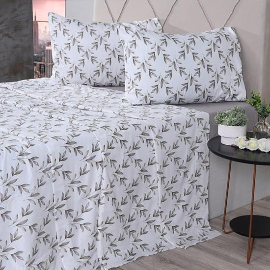 Jogo De Cama Queen Cotton Touch Pamplona - Bene Casa