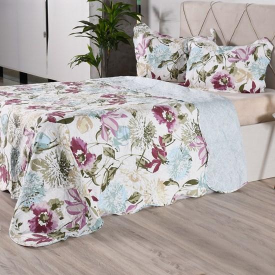 Kit 1 Cobre Leito + 2 Porta Travesseiros Casal Ultra Lisse Rolinho Lavinia Classe - Bene Casa