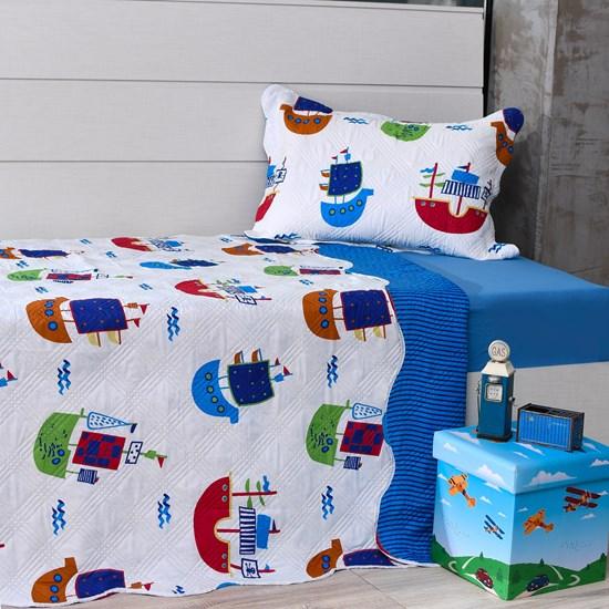 Kit 1 Cobre Leito Casal + 1 Porta Travesseiro Ultrasonic Bouti Festa - Bene Casa