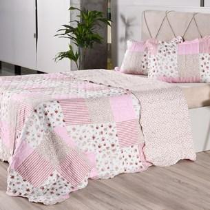 Kit 1 Cobre-Leito Casal + 2 Porta Travesseiro Bouti Rolinho Rosa Classe - Bene Casa
