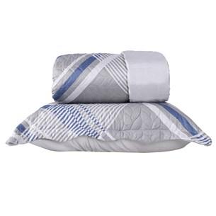 Kit 1 Cobre Leito Casal + Porta Travesseiros Refinement - Bene Casa