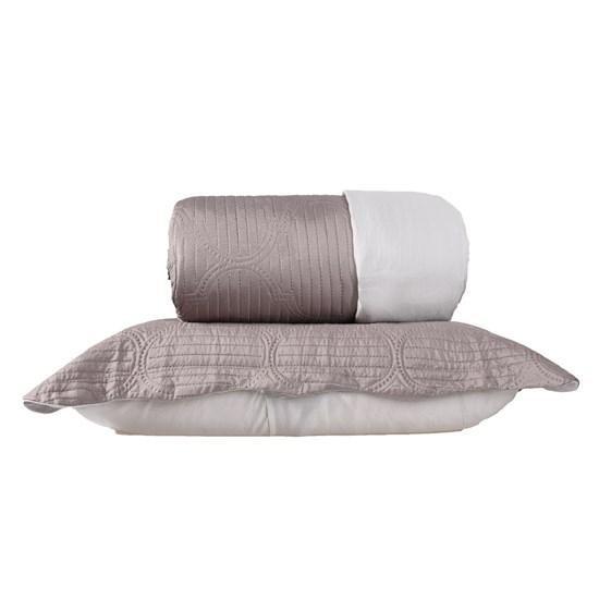 Kit 1 Cobre Leito Casal + Portas Travesseiros Areia - Bene Casa