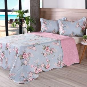 Kit 1 Cobre Leito Casal + Portas Travesseiros Bouti Ultrassonic Rolinho Serenity - Bene Casa