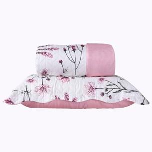 Kit 1 Cobre Leito Casal + Portas Travesseiros Escarlete - Bene Casa