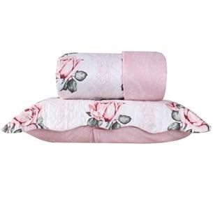 Kit 1 Cobre Leito Casal + Portas Travesseiros Florenca - Bene Casa