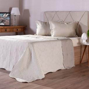 Kit 1 Cobre Leito King + 2 Porta Travesseiro Bouti Rolinho Charm Cream - Bene Casa