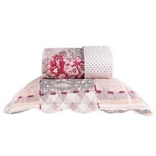Kit 1 Cobre Leito King + 2 Porta Travesseiro Bouti Rolinho  Elegance - Bene Casa