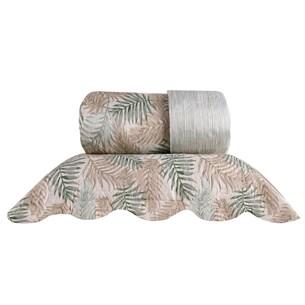 Kit 1 Cobre Leito King + 2 Porta Travesseiro Bouti Rolinho  Natura - Bene Casa
