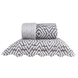 Kit 1 Cobre Leito King + 2 Portas Travesseiros Bouti Ultrassonic Rolinho  Ornato - Bene Casa