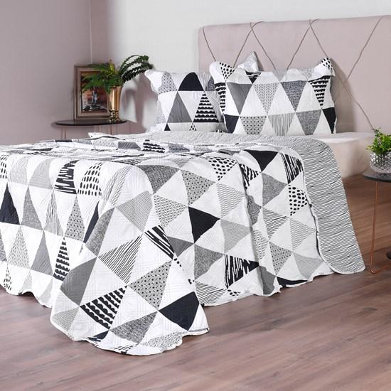 Kit 1 Cobre Leito + Porta Travesseiros Casal Ultra Lisse Rolinho Ale - Bene Casa