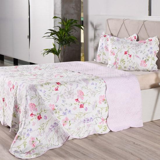 Kit 1 Cobre Leito + Porta Travesseiros Casal Ultra Lisse Rolinho Amore Classe - Bene Casa