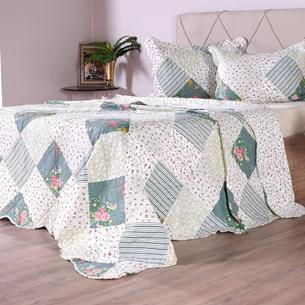 Kit 1 Cobre Leito + Porta Travesseiros Casal Ultra Lisse Rolinho Bia - Bene Casa