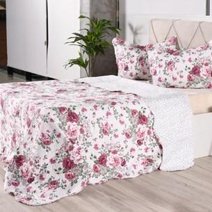 Kit 1 Cobre Leito + Porta Travesseiros Casal Ultra Lisse Rolinho Orquidia Classe - Bene Casa