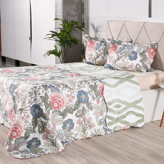 Kit 1 Cobre Leito + Porta Travesseiros King Ultra Lisse Rolinho Floratta Classe - Bene Casa
