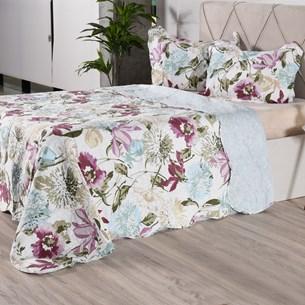 Kit 1 Cobre Leito + Porta Travesseiros Queen Ultra Lisse Rolinho Lavinia Classe - Bene Casa