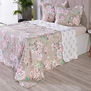 Kit 1 Cobre Leito Queen + 2 Porta Travesseiro Bouti Rolinho Principesa - Bene Casa