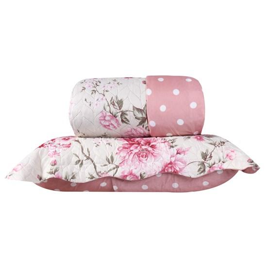 Kit 1 Cobre Leito Queen + Porta Travesseiros Perola - Bene Casa