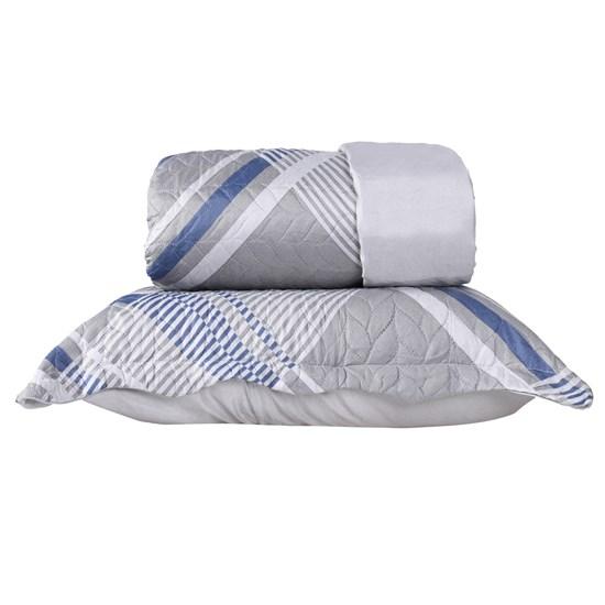 Kit 1 Cobre Leito Queen + Porta Travesseiros Refinement - Bene Casa