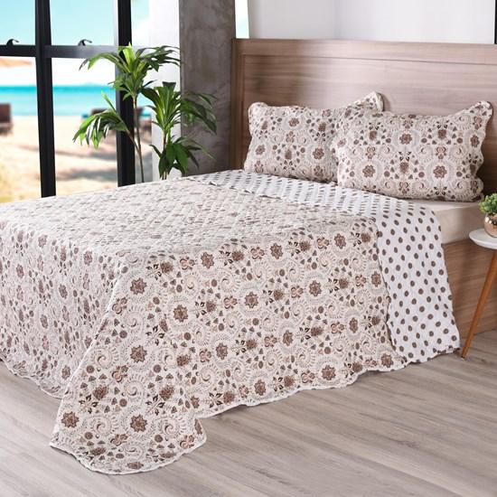 Kit 1 Cobre Leito Queen + Portas Travesseiros Bouti Ultrassonic Rolinho Glamour - Bene Casa