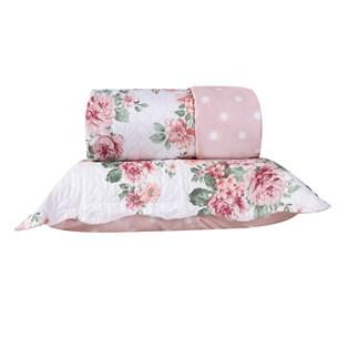 Kit 1 Cobre Leito Queen + Portas Travesseiros Carmin - Bene Casa
