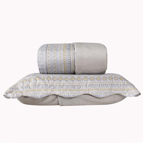 Kit 1 Cobre Leito Queen + Portas Travesseiros Etnic - Bene Casa