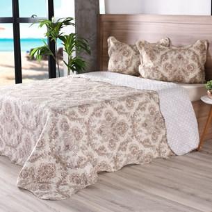 Kit 1 Cobre- Leito Rolinho Queen + 2 Porta Travesseiro Classique - Bene Casa
