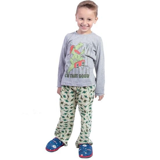 Kit 12 Pijamas Infantis Boy Malha 100% Algodão Sortido - Due