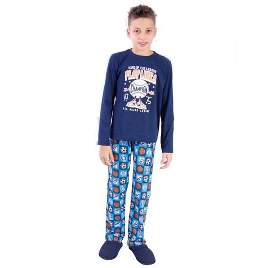 Kit 12 Pijamas Infantis Divertido Malha 100% Algodão Sortido - Due