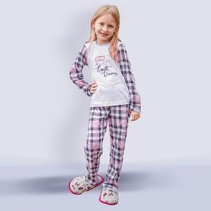 Kit 12 Pijamas Infantis Girl Malha 100% Algodão Sortido - Due